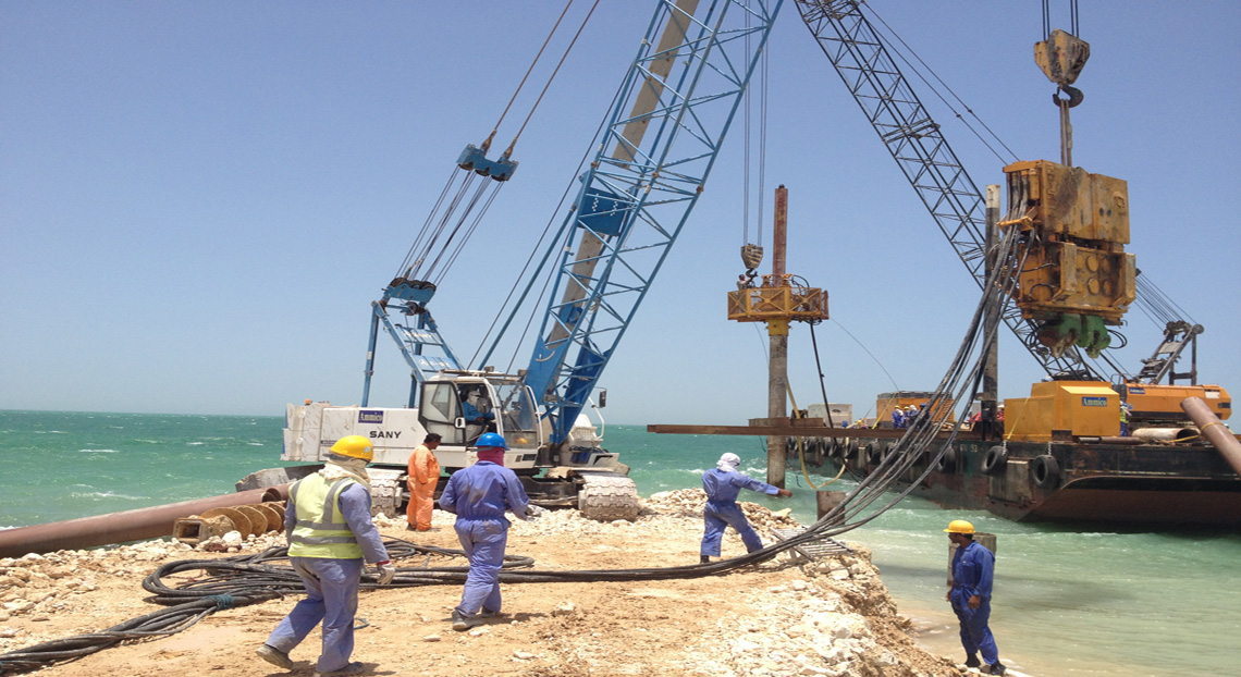 Marine Piling - Ammico Contracting Co. W.L.L.